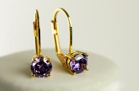 £6 instead of £68 (from Evoked Design) for a pair of white gold or yellow gold and amethyst drop earrings - save 91%