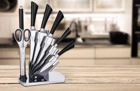 £17.99 instead of £95 (from Zoozio) for an eight-piece stainless steel culinary set and acrylic stand - save 81%