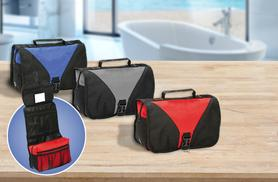 £7.99 instead of £19.99 (from The Fashion City) for a stylish folding travel toiletry bag in blue, red or grey - save 60%