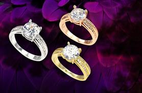£7 instead of £39 (from Bijou Amour) for a solitaire ring made with Swarovski Elements  - save 82%