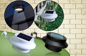 £7.99 instead of £16.99 (from Zoozio) for two solar-powered gutter lights in black or white, £14.99 for four or £29 for eight lights - save up to 53%