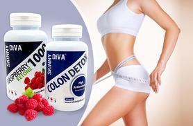 £9.99 (from Skinny Diva) for a 2-month* supply of raspberry ketone and colon cleanse capsules, £17.99 for a 4-month* supply - save up to 80%