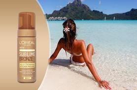 £7.99 instead of £14.99 (from ClearChemist) for a 150ml bottle of L'Oreal Sublime Bronze mousse - get sun-kissed skin and save 47%