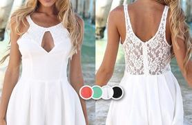 £10.99 instead of £37 (from  iluvBoutique) for a stylish summer lace chiffon playsuit - choose from four colours and save 70%