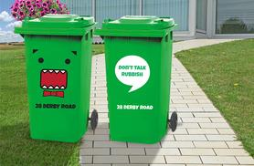 £5.99 instead of £19.98 (from Wundur) for a set of 2 personalised wheelie bin stickers, £9.99 for 4 - choose from 6 designs & save up to 70%