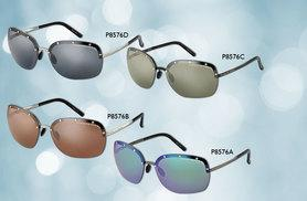 £49.99 instead of £280 from (Shop On Time) for a pair of Porsche sunglasses in a choice of four ladies' styles - save 82%