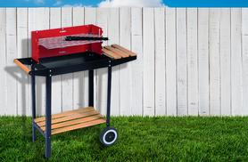 £24 instead of £54 (from Zoozio) for a red and black steel barbeque with chrome plated cooking grill - save 56%