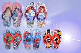 £2.99 instead of £7.99 for a pair of kids' character flip flops valid in five styles and four sizes - save 63%