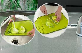 £6.99 instead of £19.99 (from Pretty Essential) for a chop, fold and drain kitchen board, £11.99 for two - save up to 65%