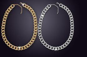 £8 instead of £29.99 (from Marcus Emporium) for a chunky curb chain necklace - choose from two colours and save 73%