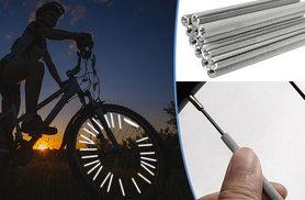 £5 instead of £14.99 (from The Treasure Chest) for 12 reflective bicycle spoke strips, or £8 for 24 - save up to 67%