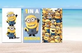 £7.99 instead of £19.99 (from Linen Ideas) for a Minions beach towel - choose from 3 designs & save 60%