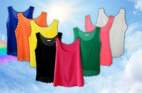 £12 instead of £29.99 (from Marcus Emporium) for five chiffon scallop hem vests - choose from eight colours and save 60%
