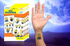 £3.99 instead of £19.98 (from London Exchainstore) for two packs of ten temporary Minions tattoos, or £6.99 for four packs - save up to 80%