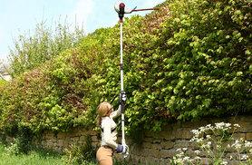 £59.99 (from HSS) for a 9ft retractable hedge trimmer, £179.99 for a petrol-powered multi-trimmer, or £199.99 for a backpack trimmer - save up to 60%