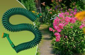 £7.99 instead of £26 (from Zoozio) for a 15m recoiling garden hose, or £12.99 for a 30m hose - save up to 69%