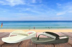 £7.99 instead of £19.99 (from The Fashion City) for a pair of diamante flip flops - choose black or white & save 60%