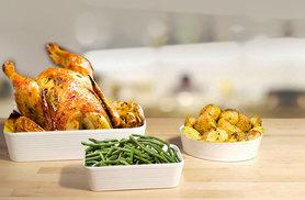 £9.99 (from Dinner Warehouse) for a 3-piece stoneware oven to table set - save 75%