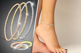 £5 instead of £45 (from Cian Jewels) for an anklet with over 50 crystals, £7 to include a matching toe ring - save up to 89%