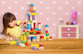 £4.99 instead of £19.99 (from London Exchainstore) for a set of 45 children's wooden building blocks, £8.99 for 90 blocks - save up to 75%