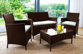 £149 instead of £699 for a four-piece luxury rattan garden furniture set in black or brown - save 79%