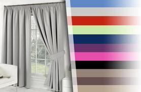From £9.99 instead of £49.99 for a pair of blackout curtains from Wowcher Direct - choose from seven sizes and up to 12 colours and save up to 80%