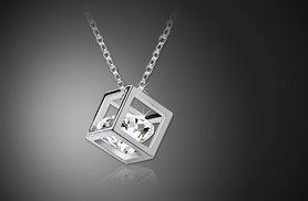 £7 instead of up to £89 (from Alvi's Fashion) for a cuboid necklace made with Swarovski elements - save up to 92%