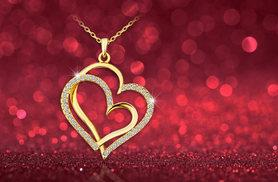 £8 instead of £65 (from Your Ideal Gift) for a gold-plated twin heart pendant made with Czech crystals - save 88%