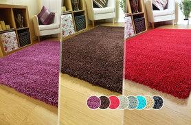 From £10 instead of up to £99.99 for a shaggy rug in a range of sizes - choose from eight colours and save up to 67%