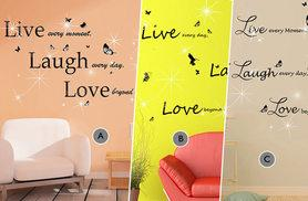 £12 instead of £29.99 for a wall sticker set made with Swarovski Elements, £18.99 for two sets - choose from six designs and save up to 60% + DELIVERY IS INCLUDED!