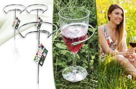 £4.99 instead of £19.99 (from London Exchainstore) for three outdoor wine glass holders - save 75%
