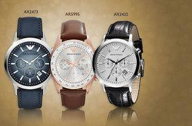 £149 for a men's Emporio Armani watch - choose from three styles and save up to 55%