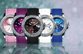 £8 instead of £19.99 for a crystal quartz watch - choose from five colours and save 60%