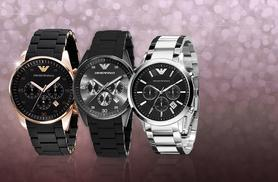 £149 instead of up £389 for a men's Emporio Armani watch from Wowcher Direct - choose between three designs and save up to 62%