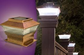 £8.99 instead of £29.99 (from Groundlevel.co.uk) for 2 LED solar fence post lights, £16.99 for 4 or £19.99 for 6 - save up to 70%