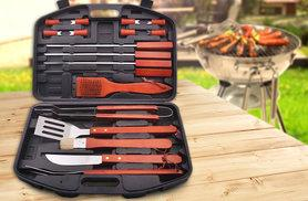 £14.99 instead of £59.99 (from Global Essentials) for an 18-piece barbecue tool set - sizzle with the BBQ this summer and save 75%