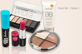 £9.99 (from Glitterstore) for a 5pc Technic makeup kit including BB foundation, eyeshadow palette, mascara, lipstick and blush or bronzer