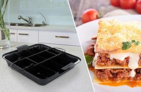 £4.99 instead of £12 (from Shop Monk) for a 'Perfect Portion' lasagne tray and cutter - serve up the perfect portions & save 58%