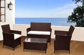 £139 instead of £434.01 for a four-piece Madrid rattan garden furniture set - choose from two colours and save 68%