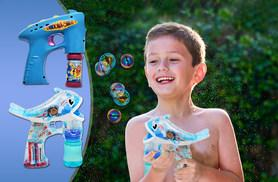 £3.99 for a light-up bubble shooter, or £4.99 for a light-up singing dolphin bubble shooter!