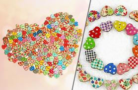 £2 instead of £14.99 (from Alvi's Fashion) for a pack of 50 heart-shaped buttons, or £4 for 100 buttons - save up to 87%