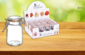 £10.49 instead of £16 for a set of 12 80ml airtight jars, £12.99 for 12 180ml jars or £14.99 for 12 250ml jars  - save up to 34%