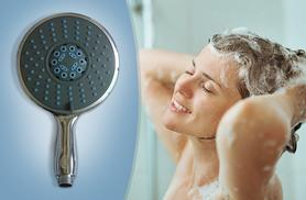 £7.99 instead of £39.99 for a chrome 5-in-1 massaging shower head - save 80%