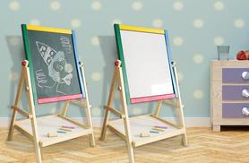 £9.99 instead of £28.99 (from Hungry Bazaar) for a two-in-one children's easel drawing board with one side for chalk and one for whiteboard markers - save 66%