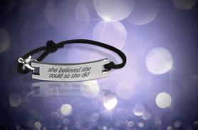 £6 instead of £29.99 (from Marcus Emporium) for a 'Be {you} tiful' Bracelet - choose from four inspirational quotes and save 80%