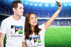 £5.99 (from Banner Express) for a men's or women's personalised selfie T-shirt, or £10.99 for two