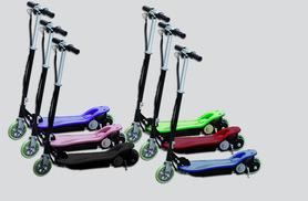 £49.99 instead of £89.99 (from SS Superstore) for a kids' 120w electric scooter, £59.99 with an attachable seat - choose from six colours and save up to 44%