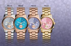 £145 instead of up to £229 for a ladies' Michael Kors watch - choose from four designs and save up to 37%