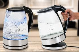 £19.99 instead of £49.99 for a clear glass Bellino kettle with LED lights - save 60%