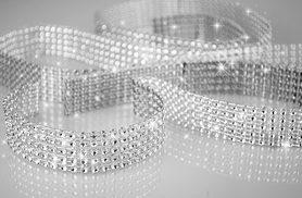 £2 (from Marcus Emporium) for four metres of diamante-effect ribbon, or £4 for eight metres - save up to 90%